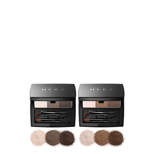 Hera-Brow-designer-pact-2-colors-4g-mykbeauty-texture