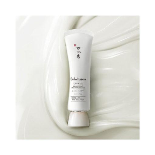 Sulwhasoo-UV-Wise-Brightening-Multi-Protector-texture-creamy-glow
